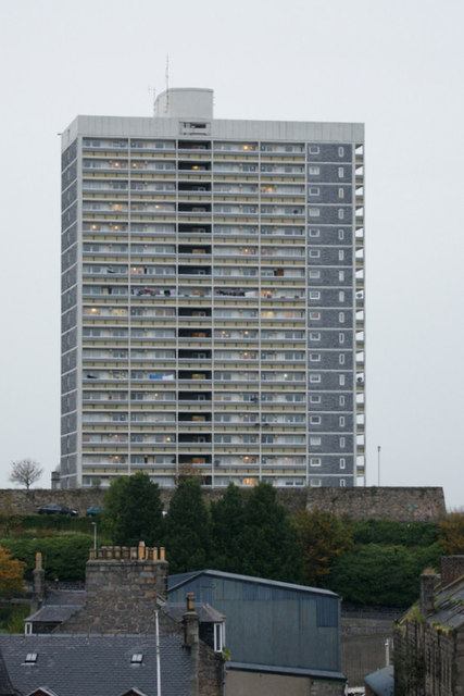 Tower block, Castlehill, Aberdeen