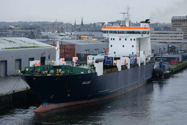 MV Helliar at Blaikie's Quay, Aberdeen