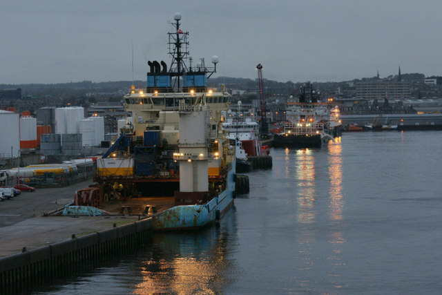 Vessels at Torry Quay, Aberdeen