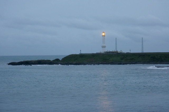 Girdleness lighthouse at dusk