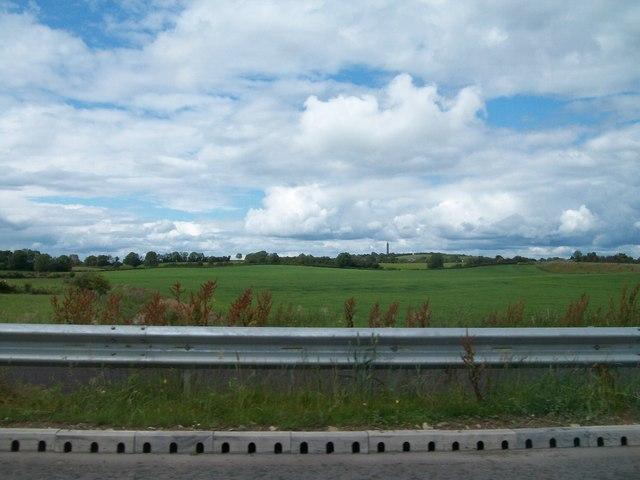 Farmland west of the N52