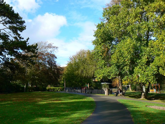 View north in the Borough Gardens, Dorchester