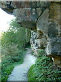 SK5374 : Footpath at Creswell Crags by Andrew Hill