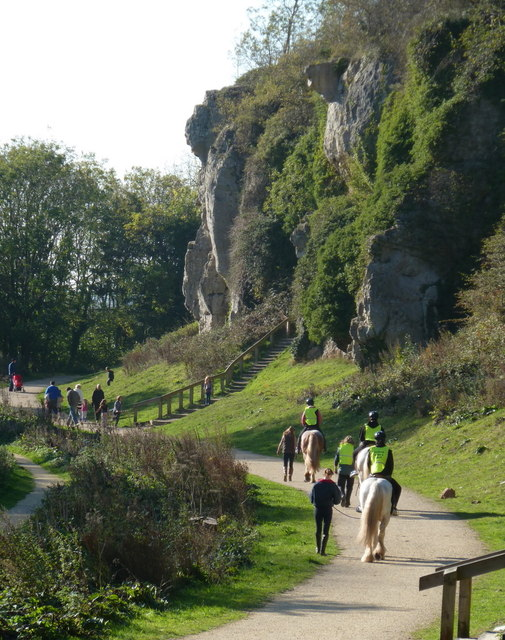 A fine Saturday afternoon at Creswell Crags