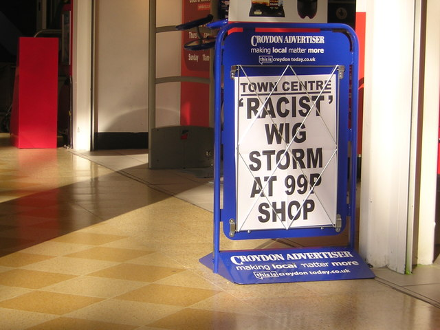 Racist wig storm at 99p shop