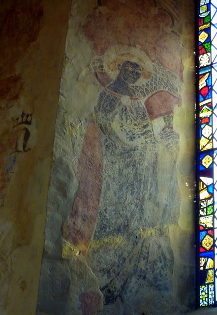 Medieval wall painting in the church of St. Nicholas, Harbledown