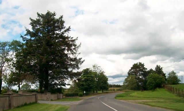 Bend in the R164 north of Boggan Cross Roads