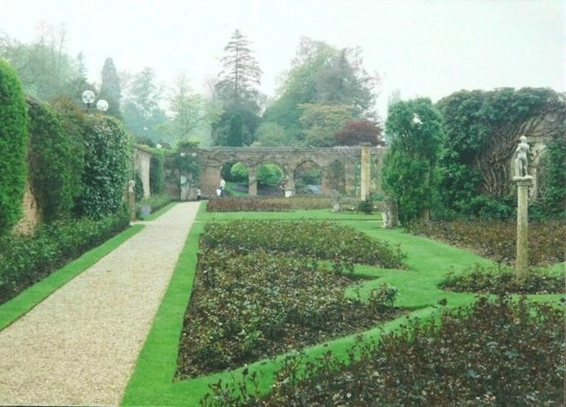 The rose garden at Hever Castle in 1993