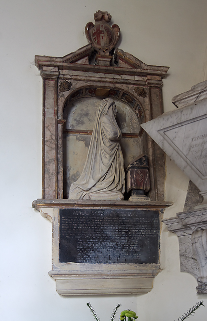 Monument to Gertrude Pile - St Mary's church, Collingbourne Kingston