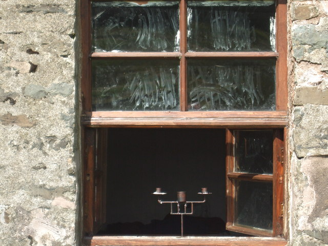 A welcome light in the bothy window
