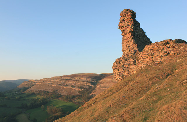Autumn evening at Castell Dinas Bran