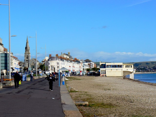 North-east along the Esplanade, Weymouth