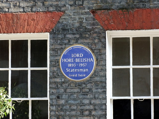 Blue Plaque at 16 Stafford Place, London