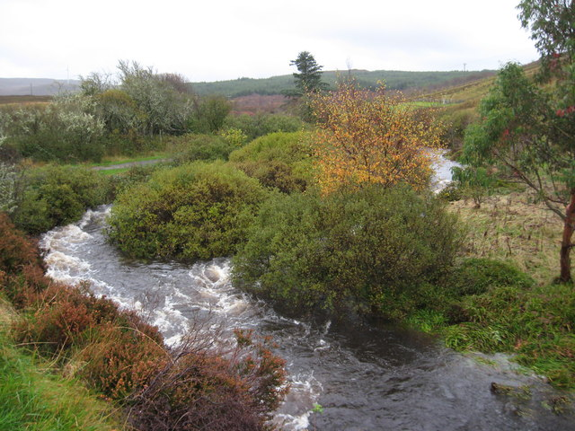 River Coshletter in spate after days of rain