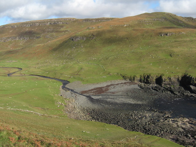 River Lorgill entering Lorgill Bay