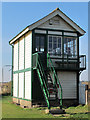 TQ9497 : Mangapps (formerly Haddiscoe) Junction Signal Box by Roger Jones