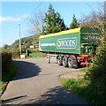 SO5014 : QV Foods trailer, Manson's Lane, Monmouth by John Grayson