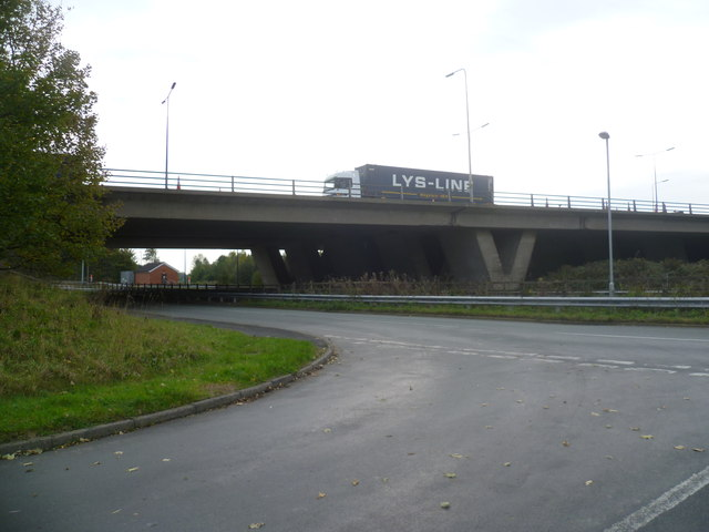 The Croft Interchange from Outside Hop Pole Farm