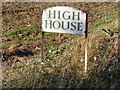 TM2961 : High House sign by Adrian Cable