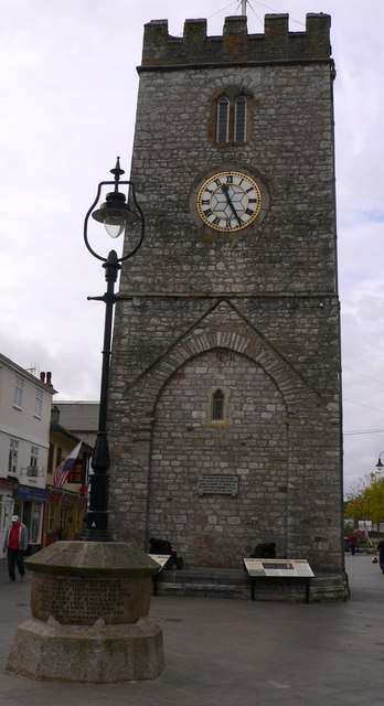 The clock tower in Newton Abbot