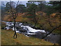 NN3328 : Small waterfall on the Allt Gleann Auchreoch by John Ferguson