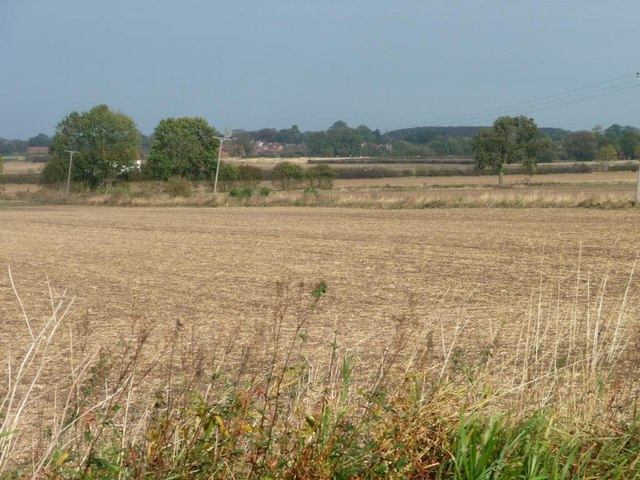 Stubble fields south of Rose Cottage