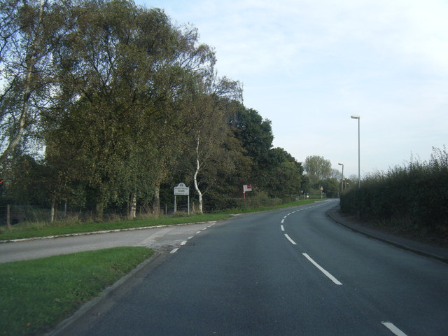 Southworth Lane at Croft boundary