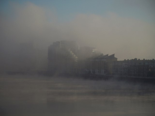 Bridges Wharf in the fog