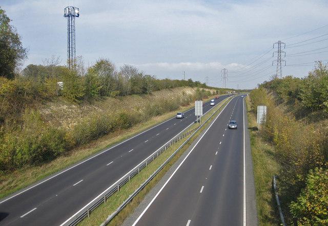 Comms mast beside the A64, Malton Bypass