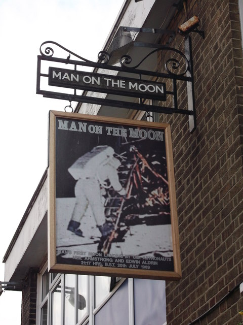 Man of the Moon, Pub Sign, New Addington