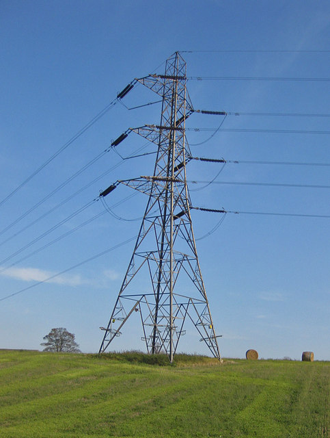 Pylon and bales