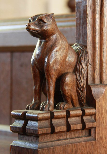St Mary, Dalham - Bench end