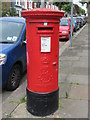 TQ2283 : Edward VII postbox, Lushington Road / Wrottesley Road, NW10 by Mike Quinn