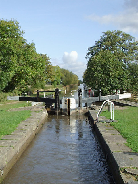 Hunt's Lock near Fradley Junction, Staffordshire