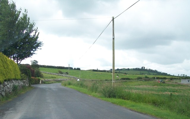The road south from the R154 towards Loughcrew