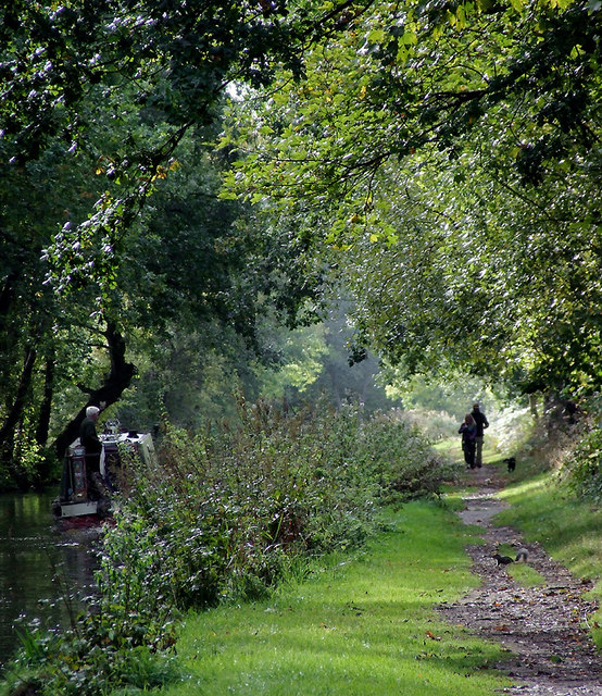 Canal towpath near Fradley Junction, Staffordshire