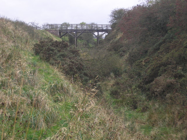 Bridge over a dismantled railway line