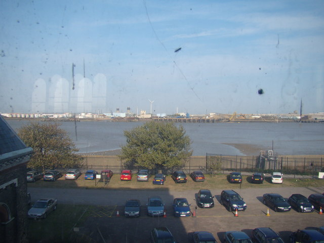 View of Dagenham Ford from Crossness Pumping Station
