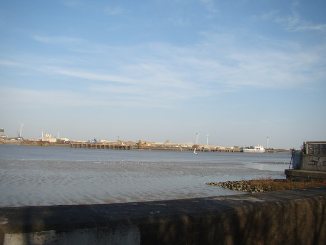 View of Dagenham Ford from the Thames Path #2
