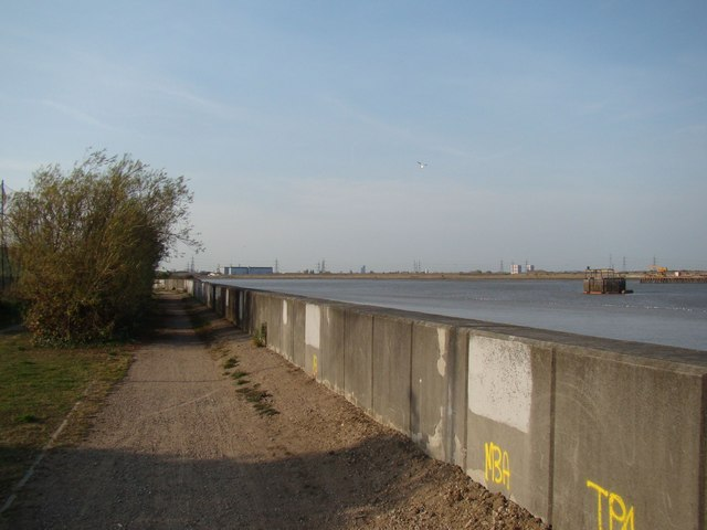 View across the river to Barking