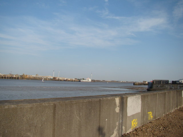 View of Dagenham from the Thames Path