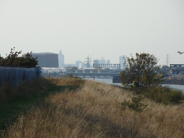 View of Central London from the Thames Path