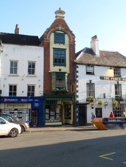 Tall narrow building, Agincourt Square, Monmouth