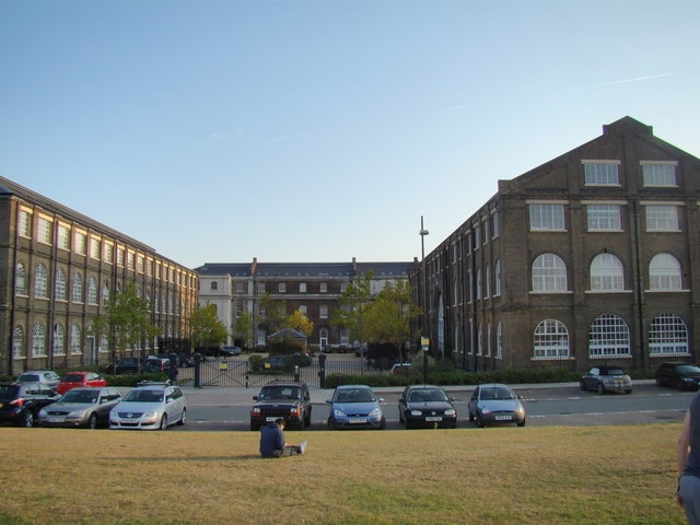 View of the Royal Arsenal development from the Thames Path