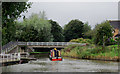 SJ6475 : Trent and Mersey  Canal at Anderton, Cheshire by Roger  Kidd