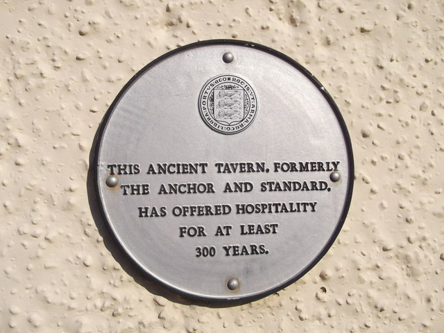 Plaque on The Anchor Pub,, Faversham