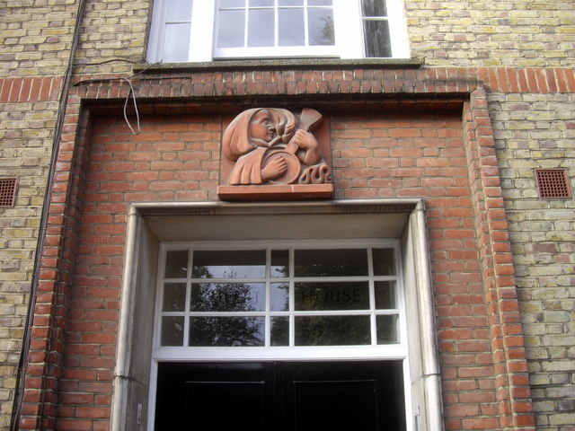 Stone above door of Rupert House, Nevern Square, Earls Court