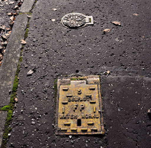 Two Belfast Water Works access covers, Belfast