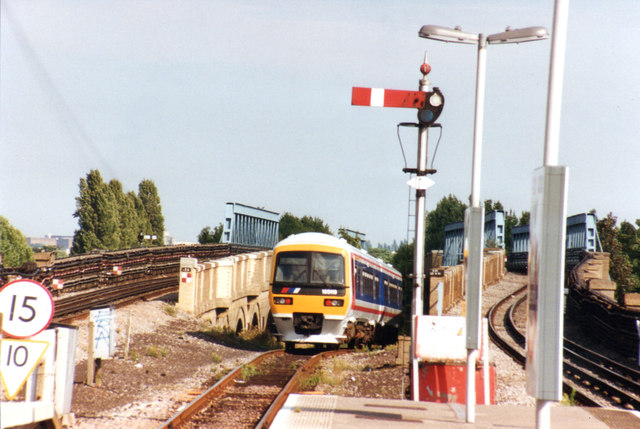 Class 165 departs Greenford Station Middlesex