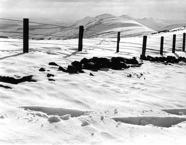 The Pentland Hills in winter
